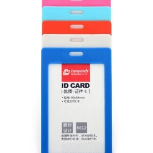 Rigid ID Badge Card Holder