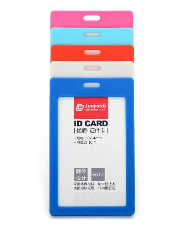 Rigid ID Badge Card Holder