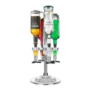 Final Touch 4 Bottle Rotary Drinks Optics Bar Caddy