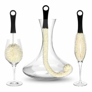 Bar Amigos Set of 3 Decanter Glassware Cleaning Brushes Set