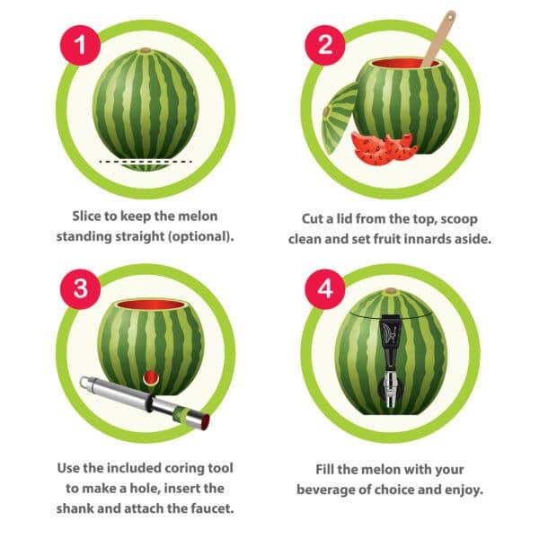 Fruit Keg Tapping Drinks Dispenser Kit
