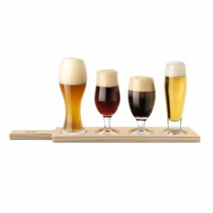 Final Touch Beer Ale Tasting Gift Paddle Serving Set -0