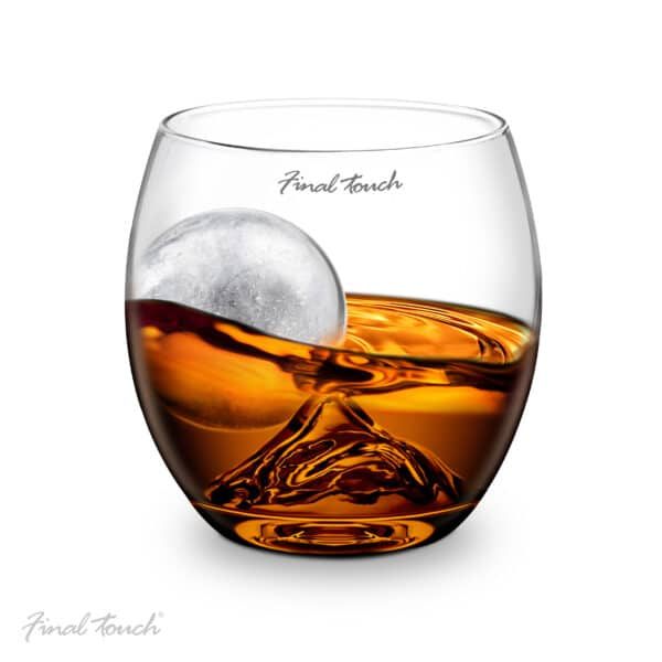 Whisky Glass and Ice Cube Ball Set