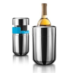 Stainless Steel Wine Chiller With Gel Freezer Packs