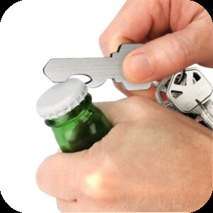 IGGI Key Ring Bottle Opener Stainless Steel