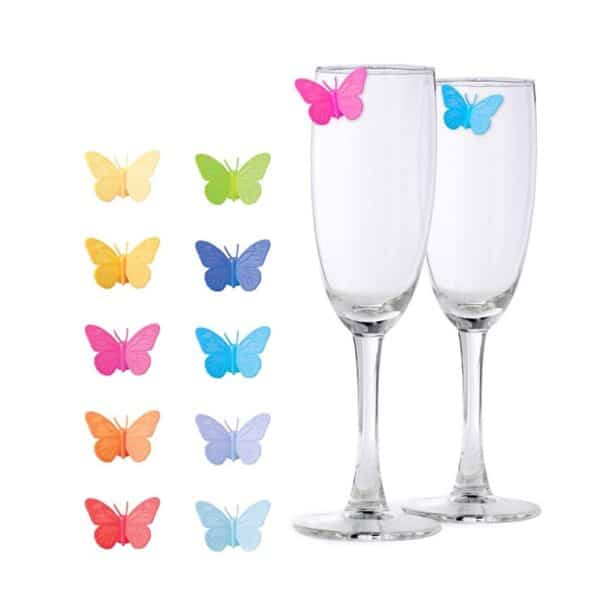 Butterfly Wine Glass Silicone Markers
