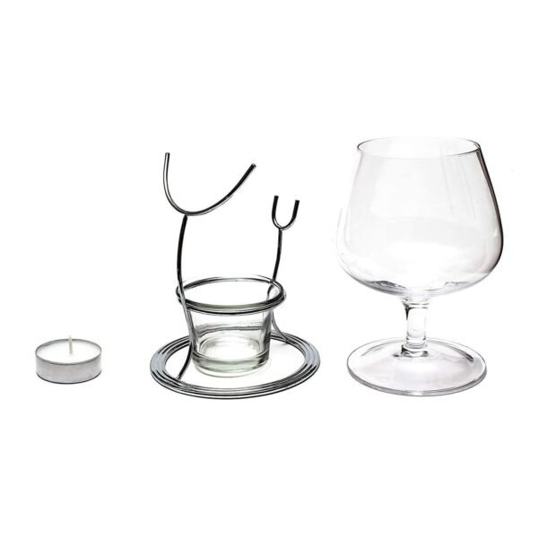 Brandy Snifter Warmer Glass and Stand