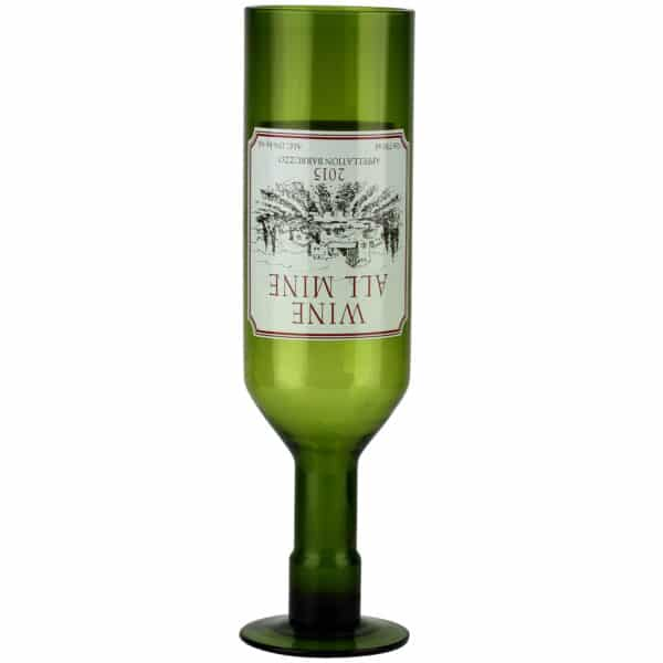 Wine All Mine Full Bottle Glass 750ml-4394