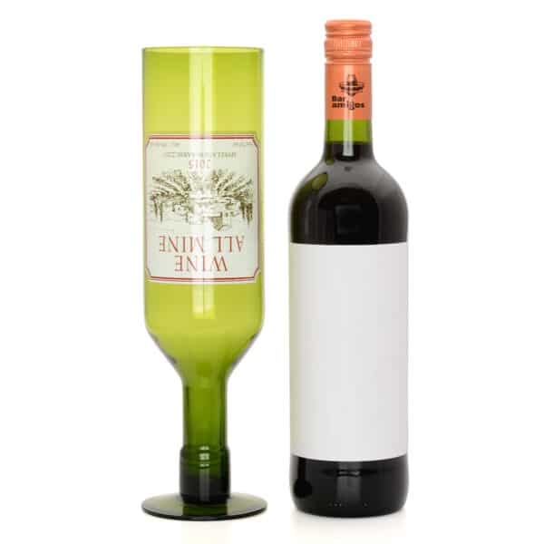 Wine All Mine Full Bottle Glass 750ml-0