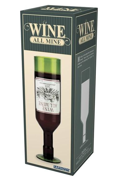 Wine All Mine Full Bottle Glass 750ml-4392
