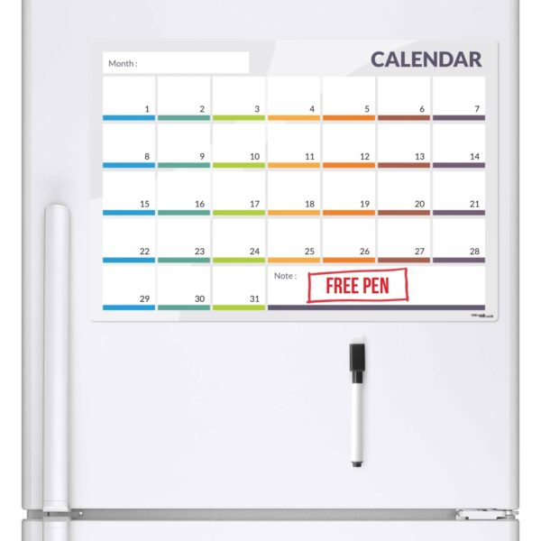 Calendar Magnetic Fridge Board