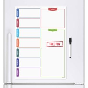 Magnetic Daily Planner whiteboard fridge