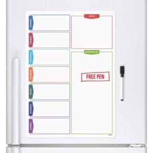 Magnetic Daily Planner whiteboard fridge