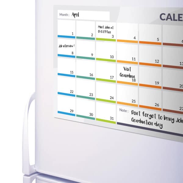 Calendar Magnetic Fridge Board 31 Day Planner