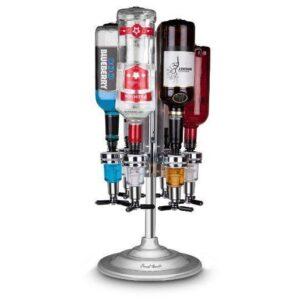 Final Touch Rotary 6 Bottle Bar Caddy Optics Shot Dispenser-0