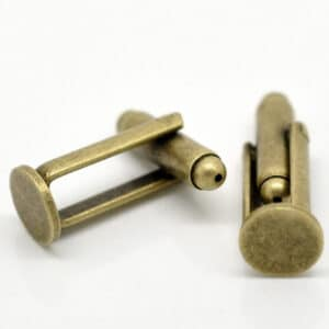 Antique Bronze Tone Cufflink Blanks Backs