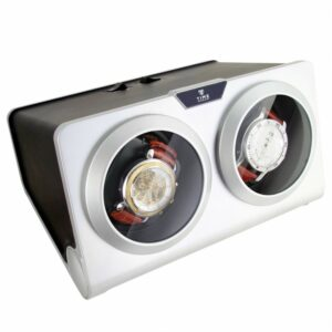 Time Tutelary Automatic Dual Watch Winder KA002 - Silver