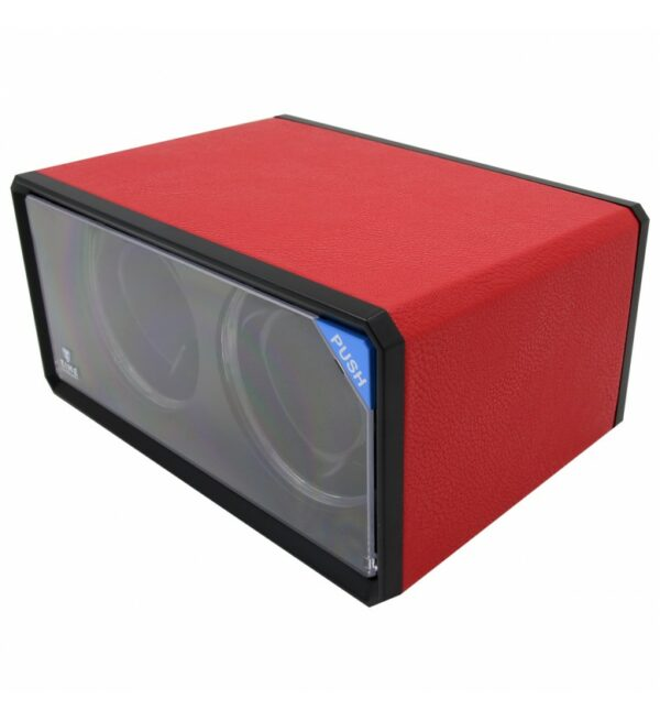 RED PU LEATHER KA076 AUTOMATIC DOUBLE WATCH WINDER