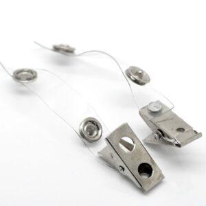 50 x Crocodile Clips Metal / Plastic for ID Badge Holder Strap 85 x 13mm