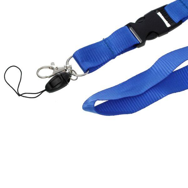 blue lanyard ID clip