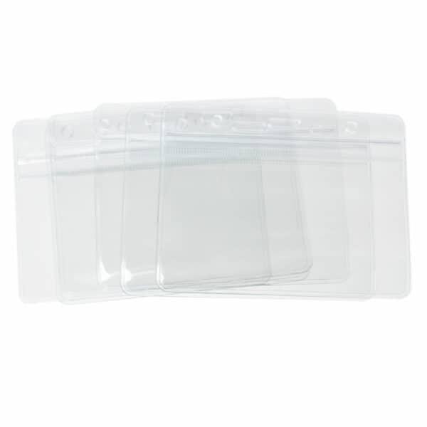 Expo ID Badge Card Plastic Pocket Holder Horizontal