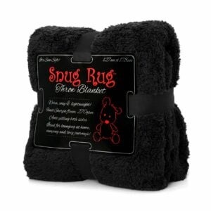 Snug-Rug Sherpa Throw Blanket - Black