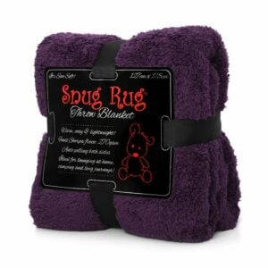 Snug-Rug Sherpa Throw Blanket Purple