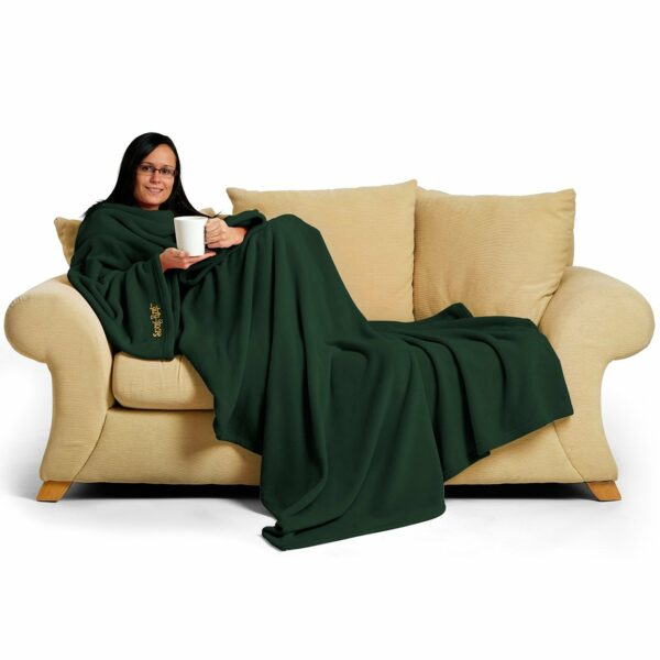 Green Snug-Rug DELUXE Blanket With Sleeves