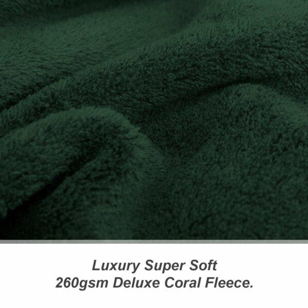 Green Snug-Rug DELUXE Blanket With Sleeves