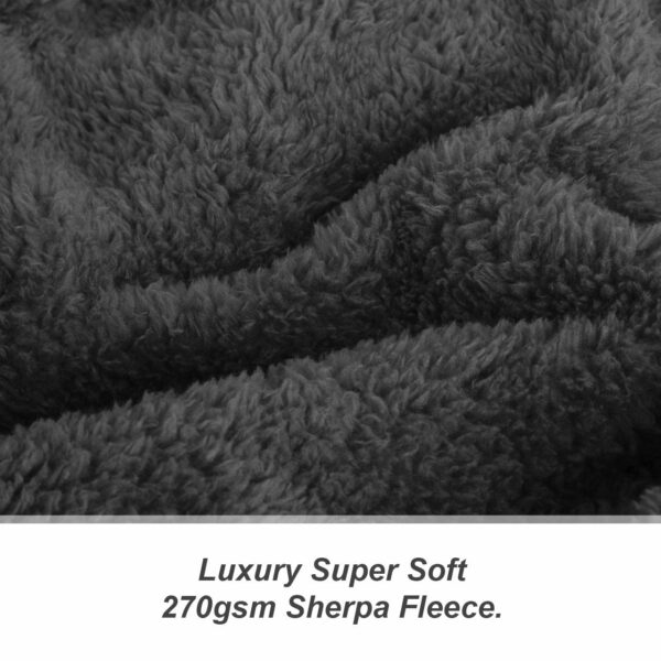 Snug-Rug Sherpa Throw Blanket Slate Grey