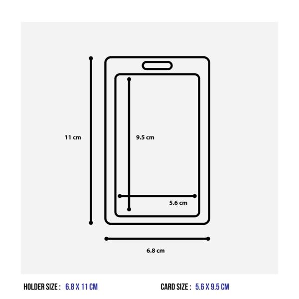 Vertical Plastic ID Rigid Pass Holder Colour Frame
