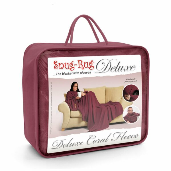 Mulberry Red Snug-Rug DELUXE Blanket With Sleeves