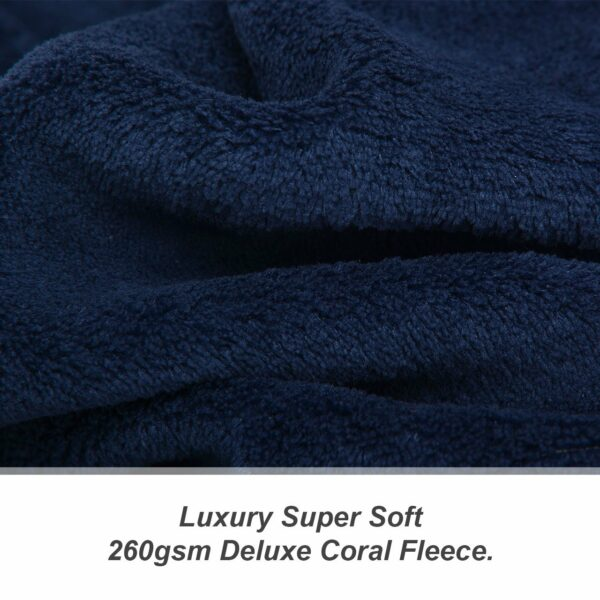 Navy Blue Snug-Rug DELUXE Blanket With Sleeves