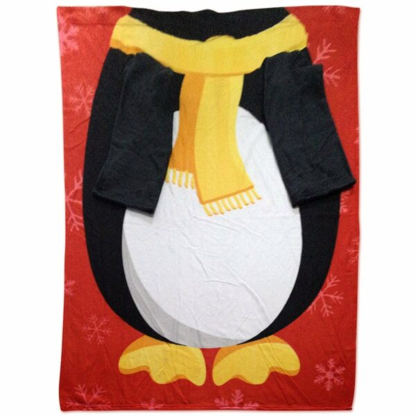 Snug-Rug Christmas Blanket - Penguin