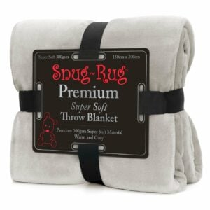 Snug-Rug Premium Throw Blanket Pebble Grey