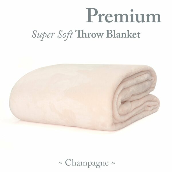 Snug-Rug Premium Throw Blanket Champagne