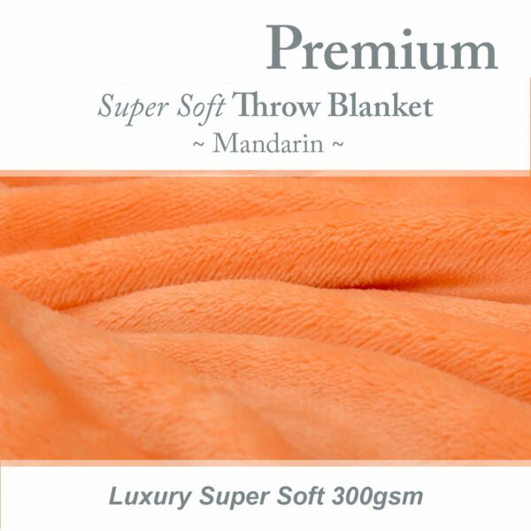 Mandarin Snug-Rug Premium Throw Blanket