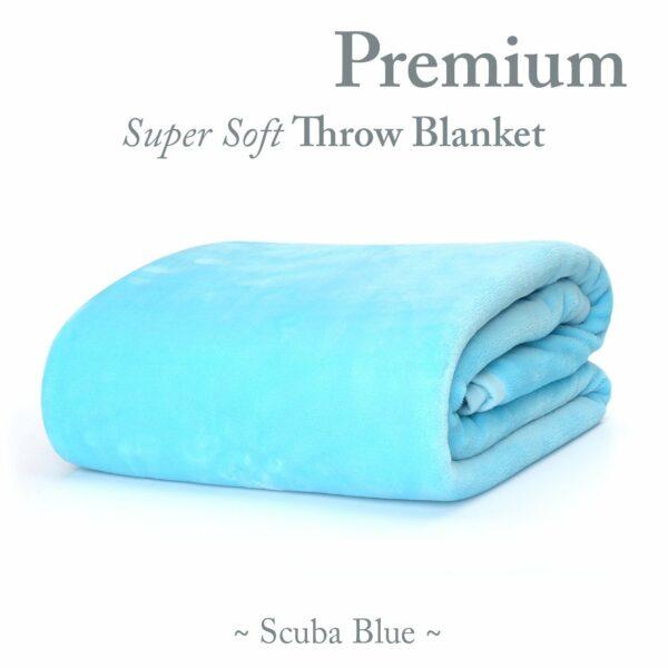 Scuba Blue throw blanket