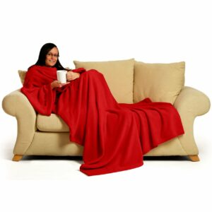 Red Snug-Rug DELUXE Blanket With Sleeves