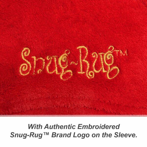 Red Snug-Rug DELUXE Blanket With Sleeves
