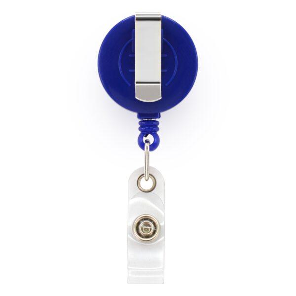 Retractable ID Badge Reels with Belt Clip - Blue