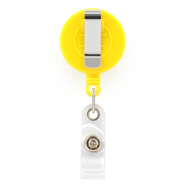 Retractable ID Badge Reels with Belt Clip - Yellow