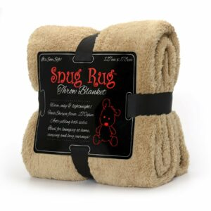 Snug Rug Sherpa Throw Blanket - Sand Beige