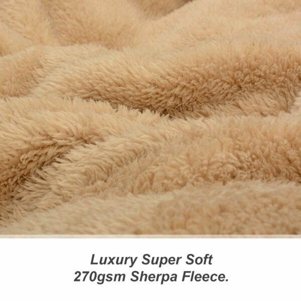 Snug Rug Sherpa Throw Blanket - Sand Beige