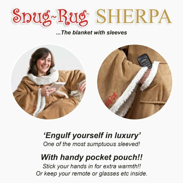Snug-Rug Sherpa Soft Faux Suede Sleeved Blanket-5183