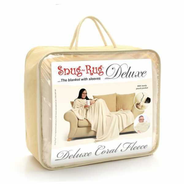 Cream Snug-Rug DELUXE Blanket With Sleeves