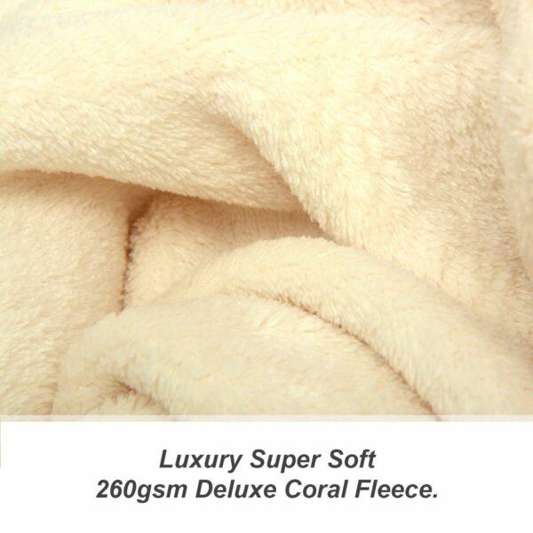 Cream Snug-Rug DELUXE Decke mit Ärmeln