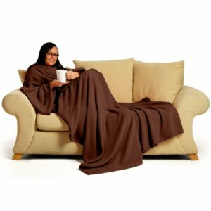 Chocolate Snug-Rug DELUXE Blanket With Sleeves