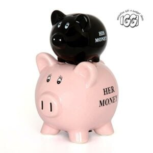 His and Hers Ceramic Piggy Bank