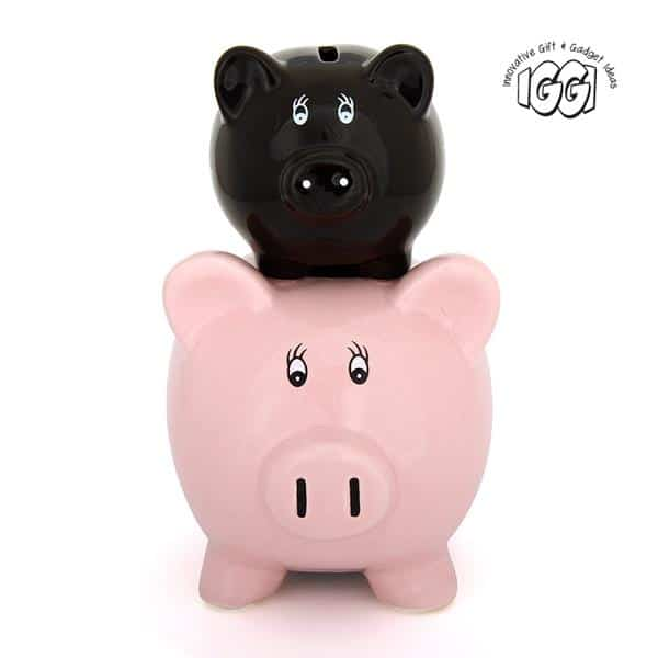 His and Hers Ceramic Piggy Bank front